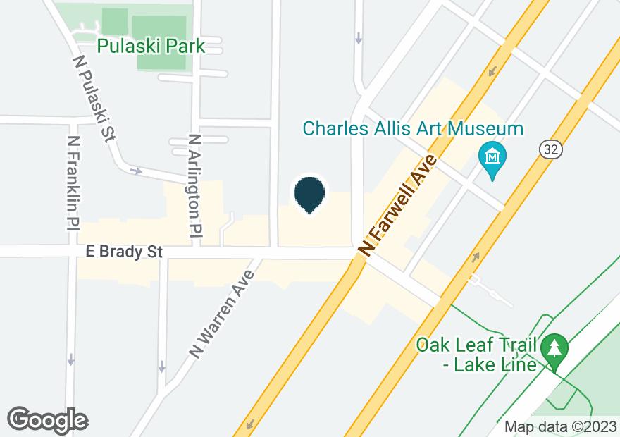 Google Map of1400 E BRADY ST