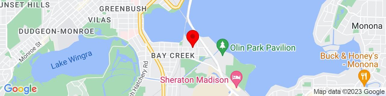 Google Map of 43.0558299, -89.3856746