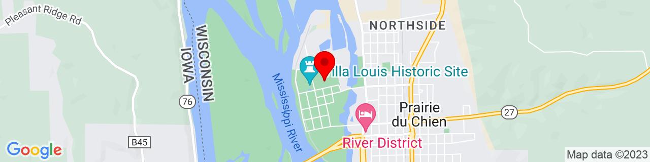 Google Map of 43.0569281, -91.1556851