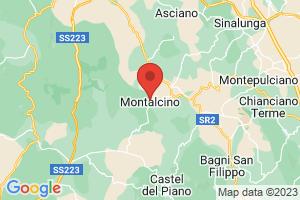 Map of Montalcino