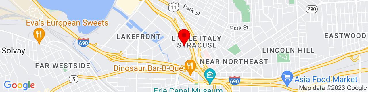 Google Map of 43.059048, -76.156526