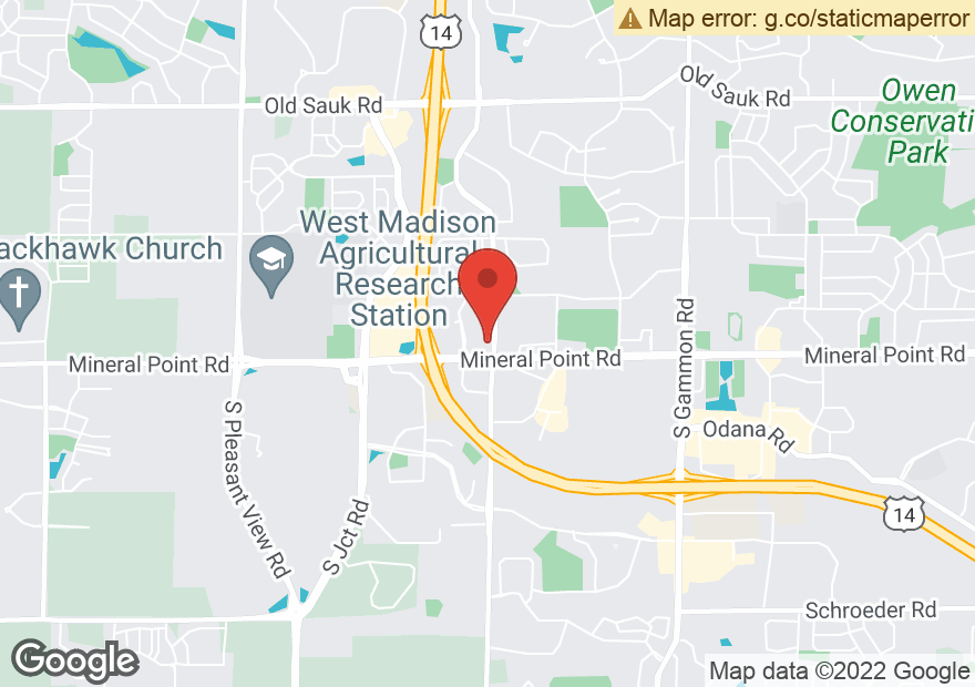 Google Map of 7810 MINERAL POINT RD