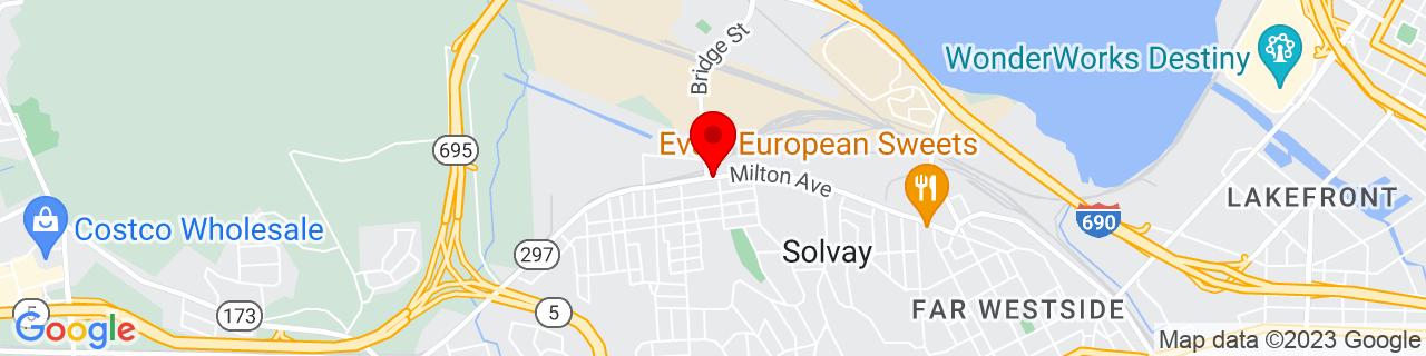 Google Map of 43.0622648, -76.2162835