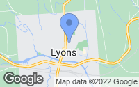 Map of Lyons, NY