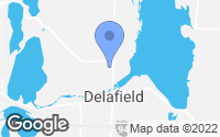 Map of Delafield, WI