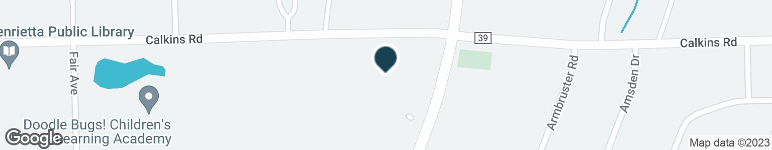 Google Map of2665 E HENRIETTA RD
