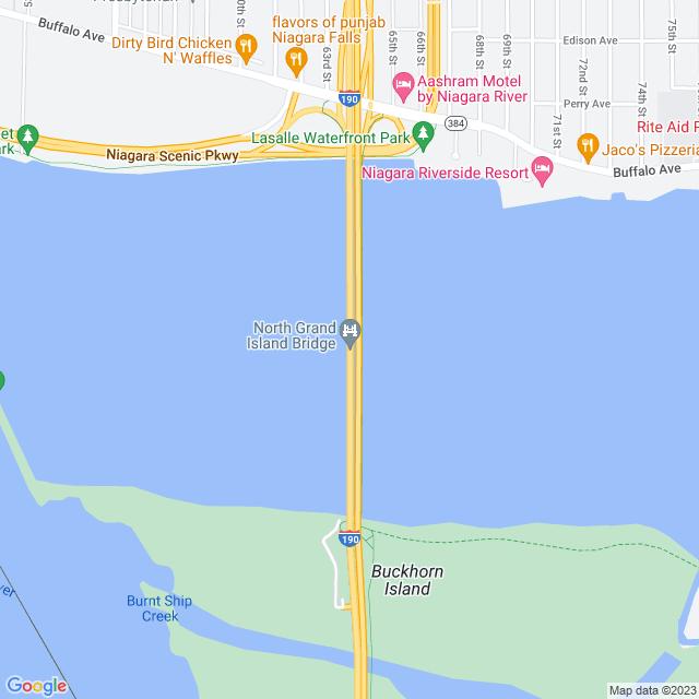 Map of North Grand Island Bridge
