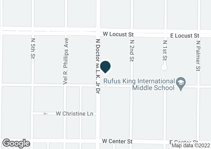 Google Map of2826 N DR MARTIN LUTHER KING DR