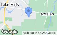 Map of Lake Mills, WI