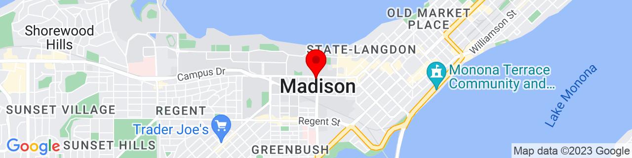 Google Map of 43.073055555555555, -89.40111111111112