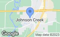 Map of Johnson Creek, WI