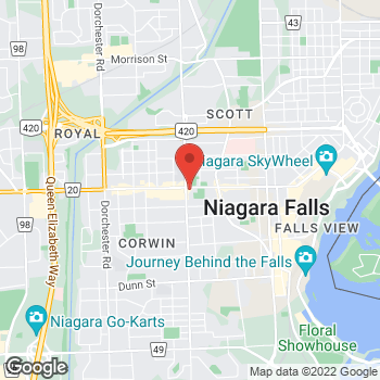Map of Tim Hortons at 6192 Lundy's Lane, Niagara Falls, ON L2G 1T6
