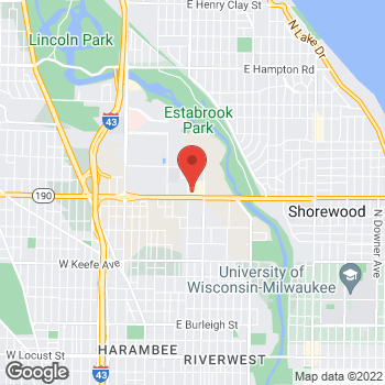 Map of Check `n Go at 344 East Capital Drive, Milwaukee, WI 53212