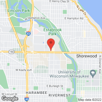 Map of Check `n Go Capital Drive at 344 East Capital Drive, Milwaukee, WI 53212