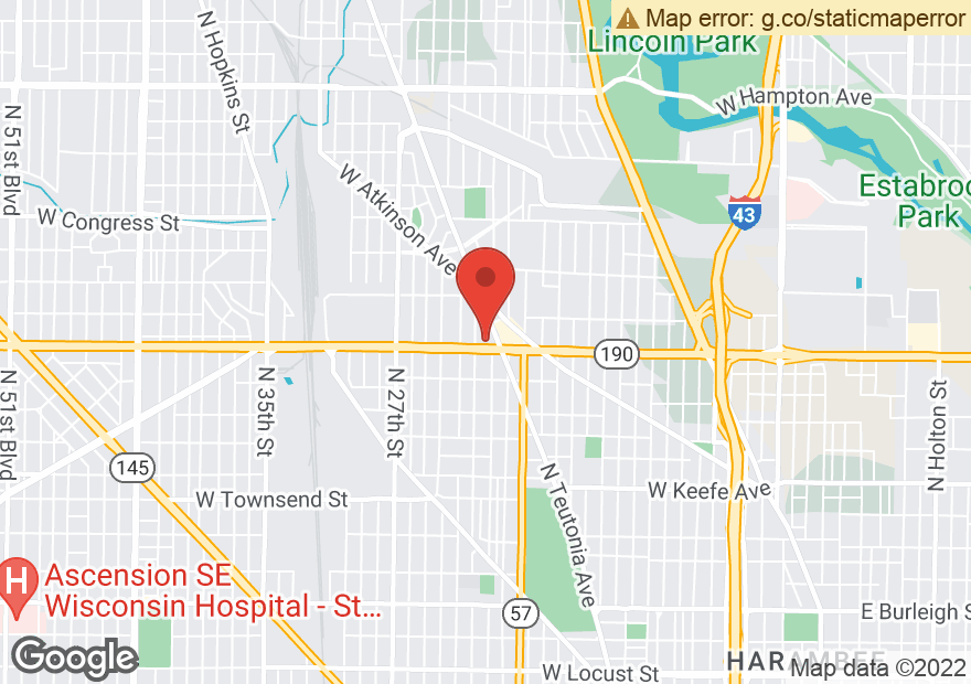 Google Map of 2222 W CAPITOL DR