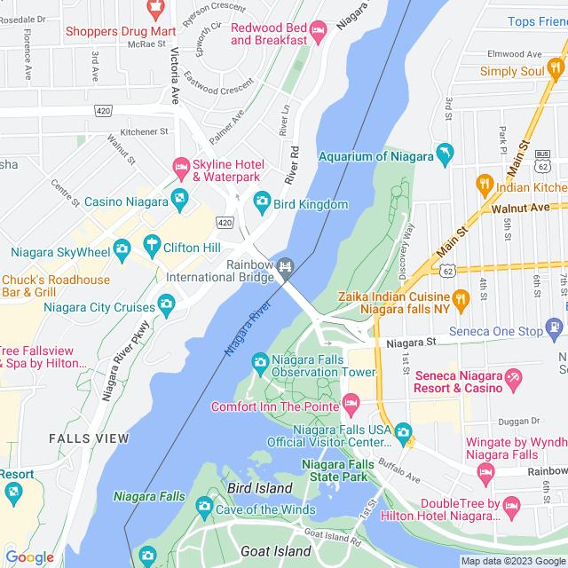 Map of Rainbow Bridge