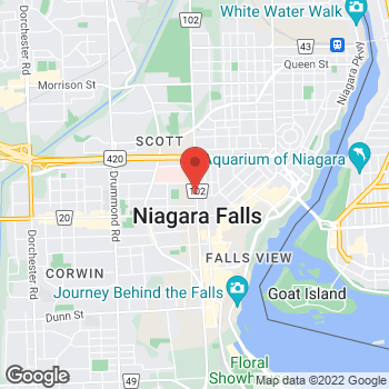 Map of Tim Hortons at 5687 Stanley Ave, Niagara Falls, ON L2G 3X6