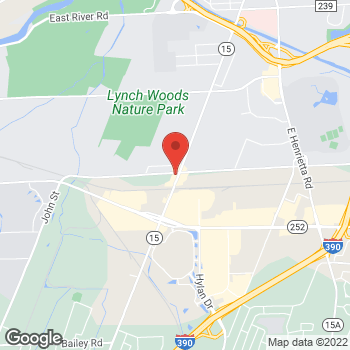 Map of Arby's at 2911 W Henrietta Rd, Rochester, NY 14623-2515