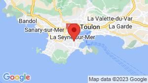 Carte de localisation du centre de contrôle technique LA SEYNE SUR MER