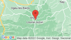 Carte de localisation du centre de contrôle technique LOUVIE JUZON
