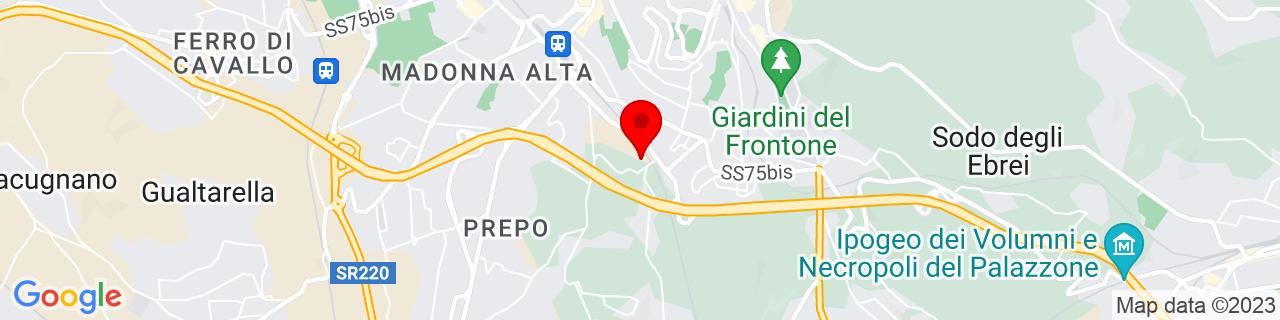 Google Map of 43.09674, 12.38286
