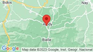 Carte de localisation du centre de contrôle technique ARUDY
