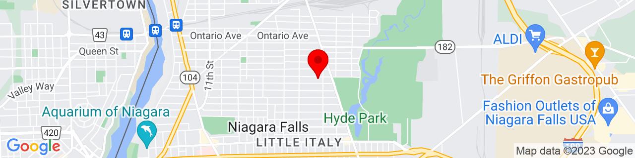 Google Map of 43.1030928, -79.0302618