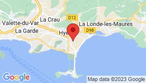 Carte de localisation du centre de contrôle technique HYERES