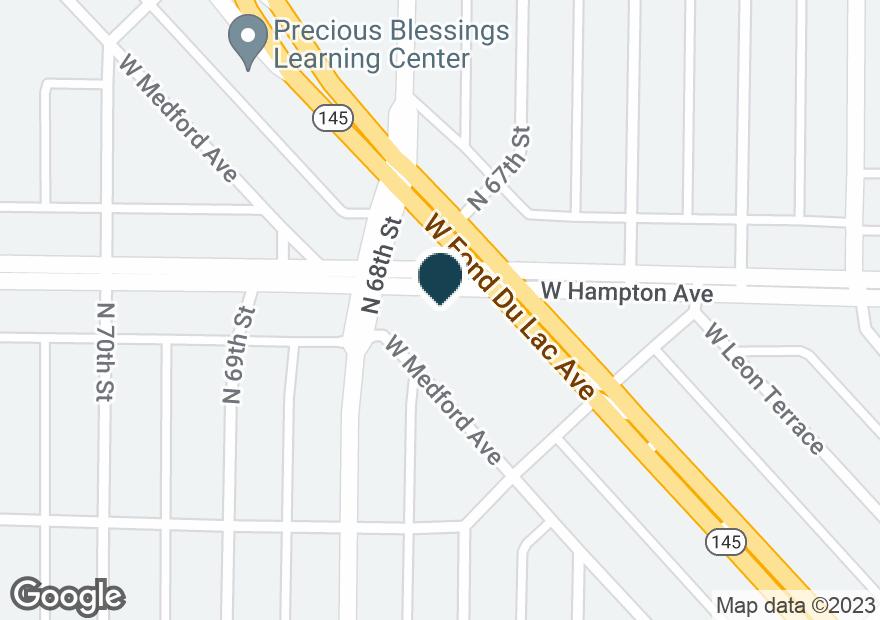 Google Map of6707 W HAMPTON AVE