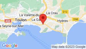 Carte de localisation du centre de contrôle technique LE PRADET