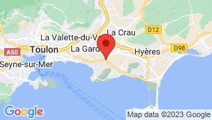 Carte de localisation du centre de contrôle technique CARQUEIRANNE