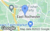 Map of East Rochester, NY