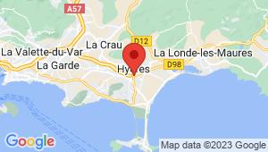 Carte de localisation du centre de contrôle technique Hyères