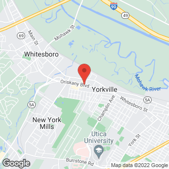 Map of Taco Bell at 400 Oriskany Blvd, Yorkville, NY 13495