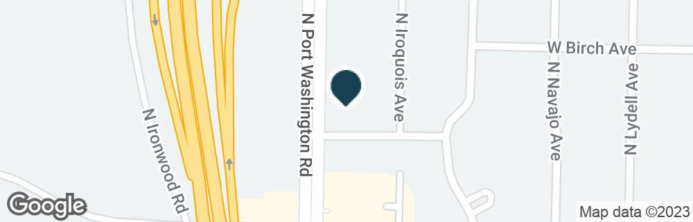 Google Map of5400 N PORT WASHINGTON RD