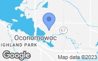 Map of Oconomowoc, WI