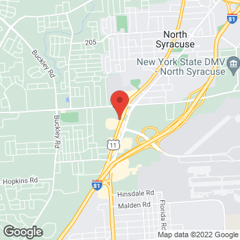 Map of Arby's at 3813 Brewerton Rd, North Syracuse, NY 13212