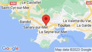 Carte de localisation du centre de contrôle technique OLLIOULES