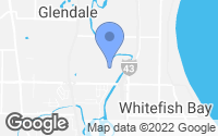 Map of Glendale, WI
