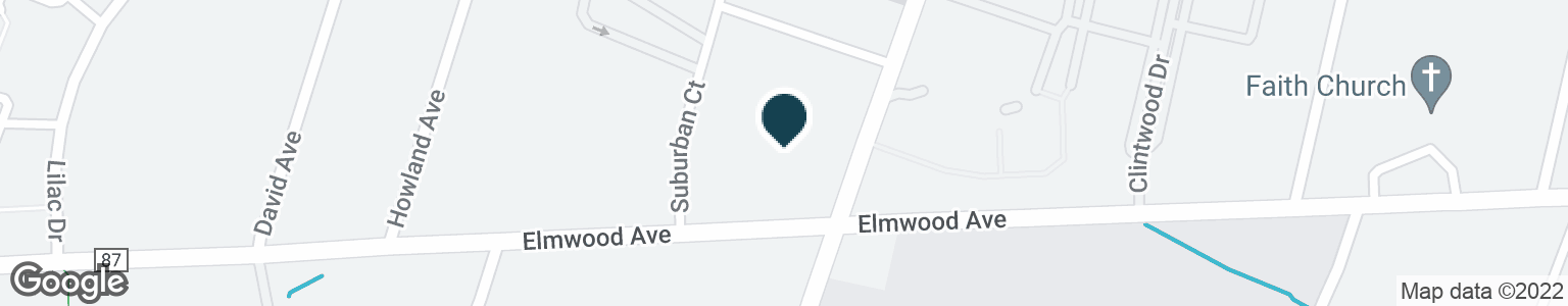 Google Map of1650 ELMWOOD AVE