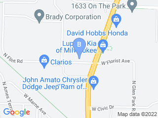 Map of North Shore Doggy Daycare LLC Dog Boarding options in Milwaukee | Boarding