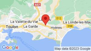 Carte de localisation du centre de contrôle technique LA CRAU