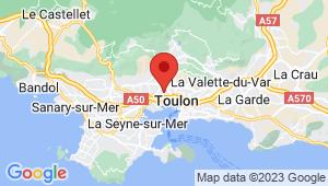 Carte de localisation du centre de contrôle technique TOULON
