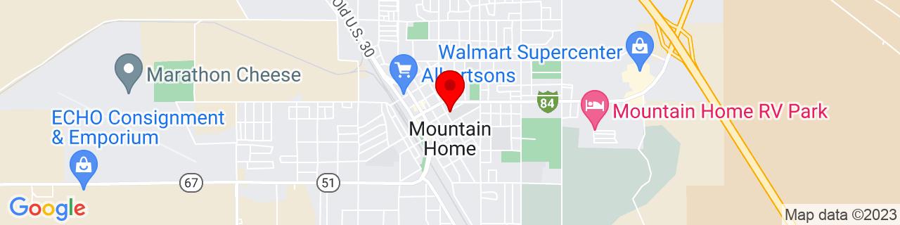 Google Map of 43.1329504, -115.6911975