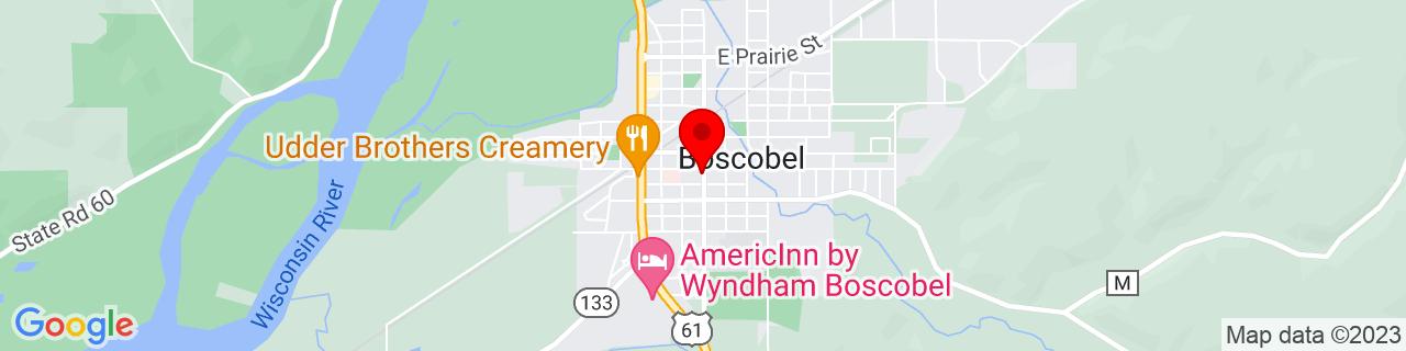 Google Map of 43.1334755, -90.7059451