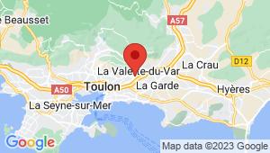 Carte de localisation du centre de contrôle technique LA VALETTE