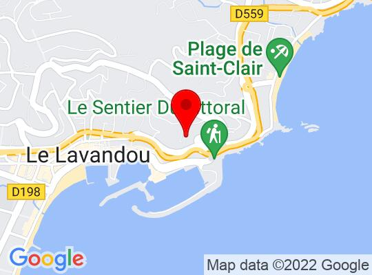 Google Map of Bormes Les Mimosas