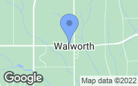 Map of Walworth, NY