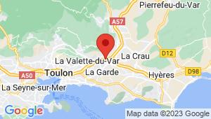 Carte de localisation du centre de contrôle technique LA GARDE