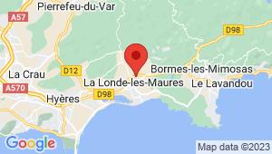 Carte de localisation du centre de contrôle technique LA LONDE LES MAURES